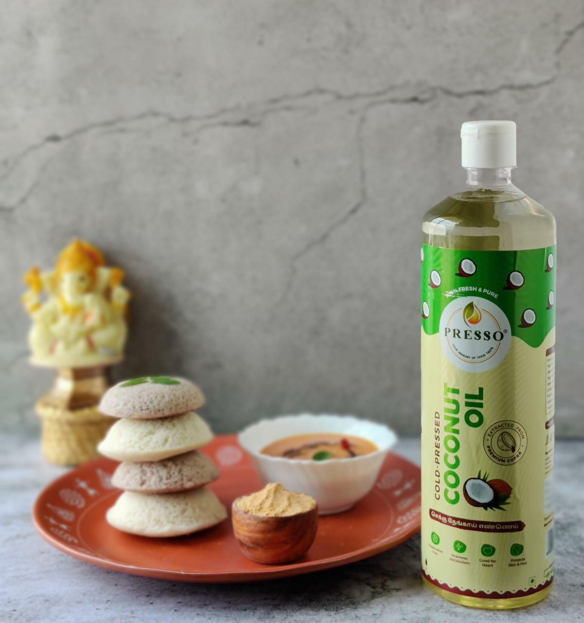 PRESSO Cold Pressed Coconut Oil-1L
